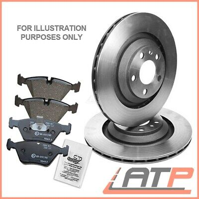 Brake Discs Ventilated  Ø324 + Set Pads Rear Bmw 7 Series E65 E66 730 735