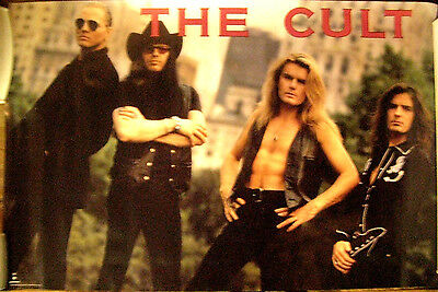 The Cult Vintage 1990 Group Promo Limited Edition Poster Ian Astbury