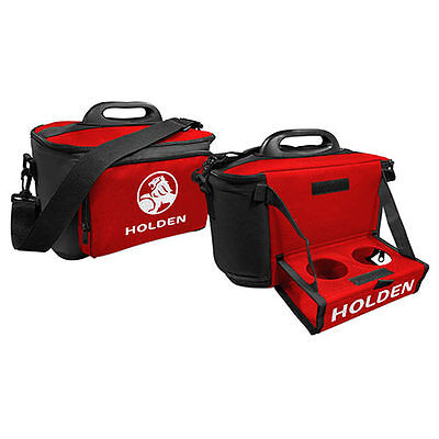 120760 Holden Logo Red & Black Large Insulated Lunch Cooler Bag With Drinks Tray
