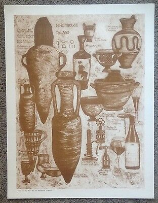 """Vintage 1988 """"Wine Through The Ages"""" Poster Alcohol Spirits Napa Valley Wine"""