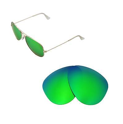 74b09705359 New WL Polarized Emerald Lenses For Ray-Ban Aviator Large Metal RB3025 58mm