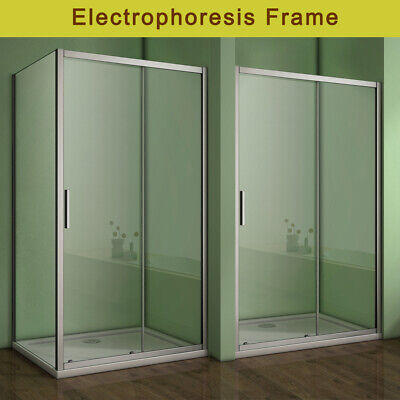 Sliding Shower Enclosure And Tray & Waste Door Side Panel Safety Glass