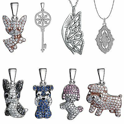 Charms Pendants Zircon Crystals Floating Jewelry Fit 925 Silver Necklace Chain