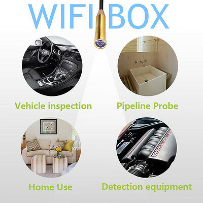 Waterproof WiFi Inspection Camera Borescope Endoscope Scope For iPhone Android @