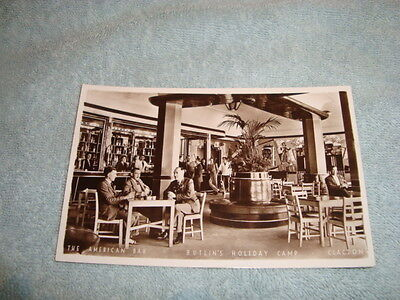"Vintage Butlin's Postcard""the American Bar-Butlin's Holiday Camp-Clacton"""