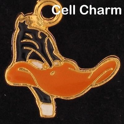 CELL PHONE CHARM DAFFY DUCK LOONEY TUNES WARNER BROS Gold WB STORE LT 4359