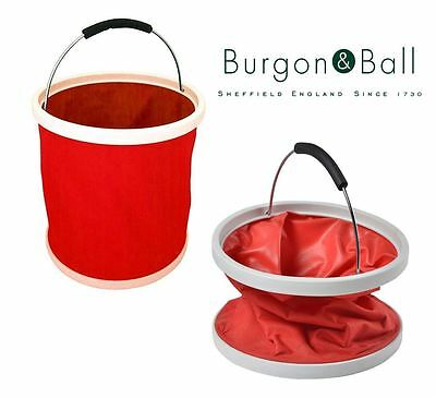Burgon & Ball Collapsible Portable Bucket Ina Bag in Red