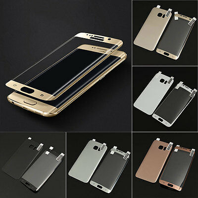 3D Full Cover Screen Protector PET Front+Back Film For Samsung S6 S7 edge Plus