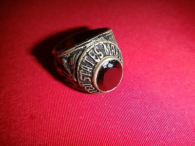 UNITED STATES MARINE CORPS Silver Ring With A Black Stone
