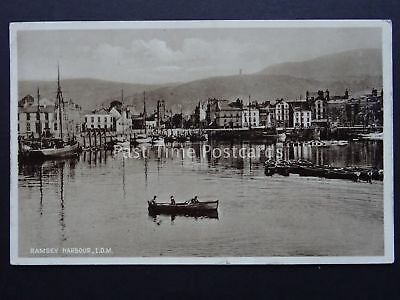 Isle of Man RAMSEY HARBOUR c1934 Old Postcard