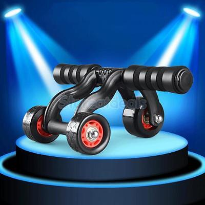 Abdominal Exercise Roller Three Wheels Muscle Gym Fitness Strength Training