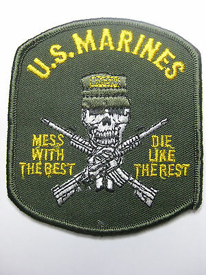 Usmc U.s. Marines Morale Mess With The Best Die Like The Rest Patch