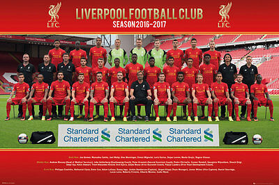 Liverpool FC Poster - Team 16/17 - New Liverpool Football poster SP1410