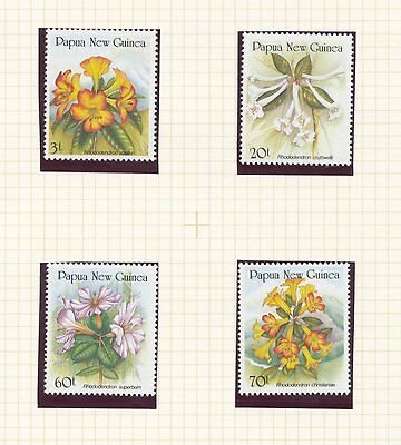Papua New Guinea 1989 Rhodedendrons set of 4
