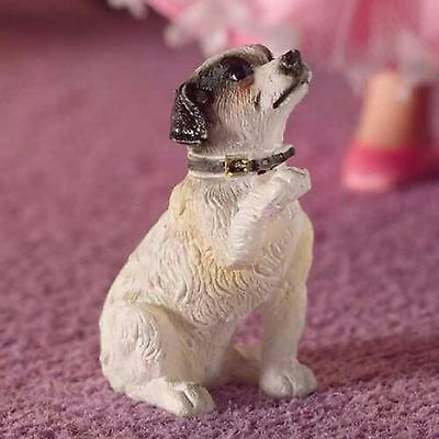 Dolls House 1/12 Scale Jack Russell Terrier Dog Sitting  Resin Figure