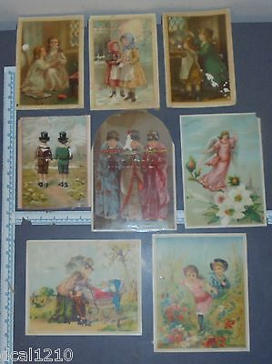 Lot of Large Victorian Trade Cards Union Pacific Tea Company