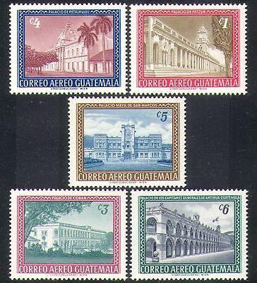 Guatemala 1964 Palaces/Buildings/Arcitecture/Palm Trees/Nature 5v set (n37229)