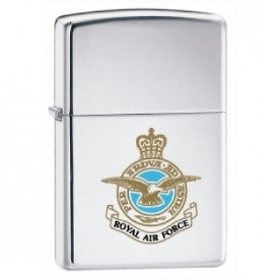 Zippo Royal Air Force High Polish Chrome Windproof Lighter Brand New