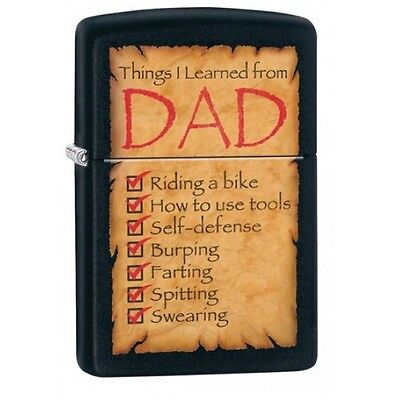 Zippo Things I Learned From Dad Windproof Lighter Brand New