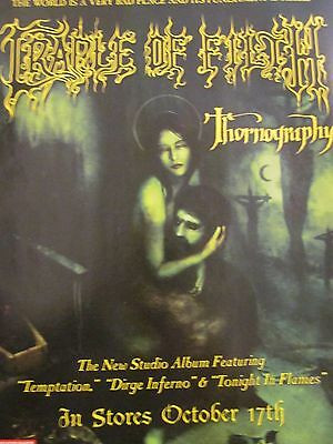 Cradle of Filth, Thornography, Full Page Promotional Ad