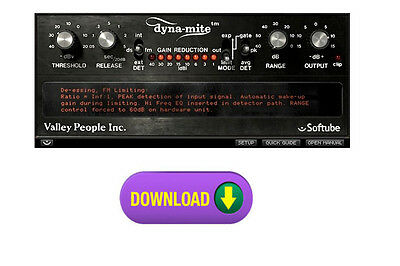 Softube Valley People Dyna-mite, dynamite Multi-Dynamics Limiter/Compressor more