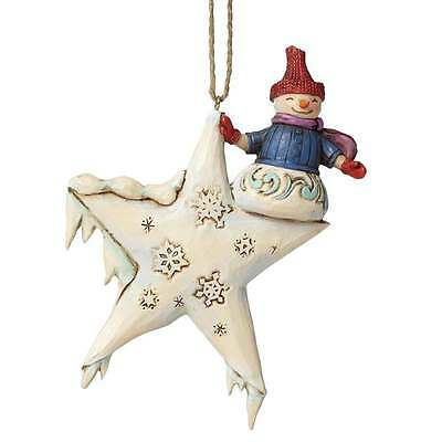 Jim Shore Heartwood Creek Snowman On Star Hanging Ornament New Boxed 4047806