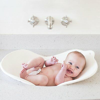 Puj Compact Infant Bath time Basin Insert Flyte White