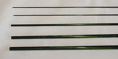 IM6, 4 PC, 3 WT, 9 FT FLY ROD BLANK, Translucent Green, 2 Tips, by Roger