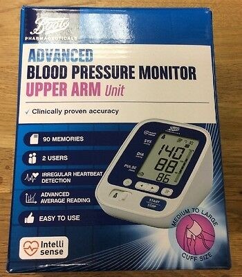 Boots Pharmaceuticals Advanced Blood Pressure Monitor Upper Arm Unit.