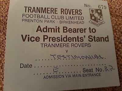 Tranmere Rovers V Everton Ticket 80S Signed By Southall Kendall Bailey Eastoe