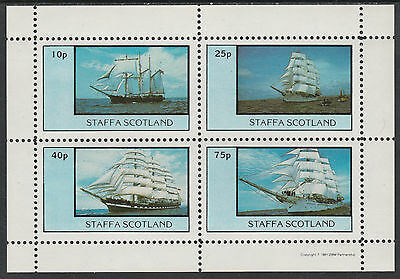 GB Locals - Staffa (2376) 1981  TALL SHIPS perf sheetlet  unmounted mint
