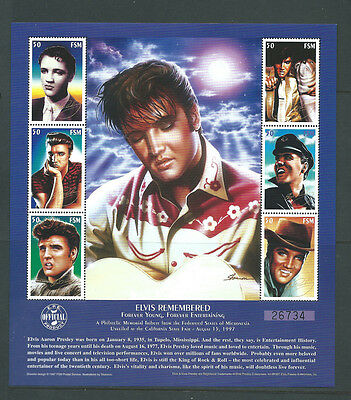 Federated States of Micronesia FSM unmounted mint Elvis Presley sheet MNH