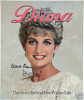 DIANA Princess Of Wales Autographed Photograph - British Royalty - preprint