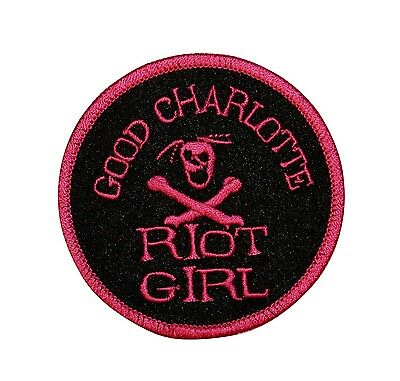 Good Charlotte Riot Girl Logo Embroidered Iron On Applique Patch p421