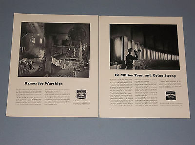 4 1942-1944 Bethlehem Steel Ads Wwii Era Bethlehem Ads War Effort Production