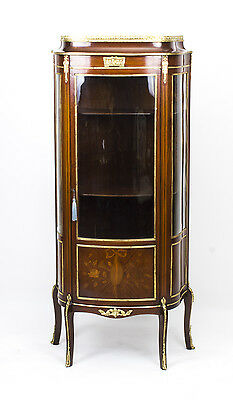 Antique French Inlaid Louis Revival Display Cabinet c.1880