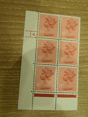 X941 11p PINK  HARRISON PRINT PCP  IN CYL BLK OF 6    4 DOT UNM