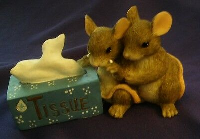 Mouse Tissue Figurine By Charming Tails