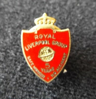 Royal Liverpool Group 5 Year Safe Worker No Accident Award Lapel Collar Button