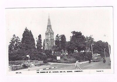 ENGLAND vintage photo post card Church of St Michael & St George in Camberley