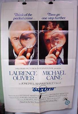 Original Movie Poster SLEUTH Michael Caine Laurence Olivier 1972