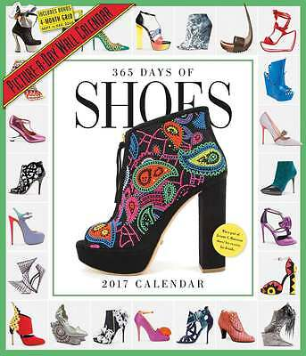 365 Days of Shoes Deluxe Calendar 2017 Lifestyle Deluxe Calendar Month View