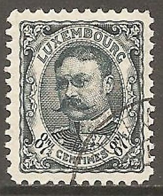1908 Luxembourg William IV 87½c Slate-Blue SG 169 Used (Cat £25)