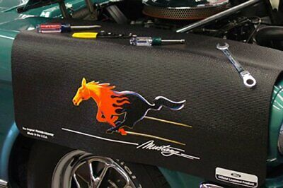 "Ford Flaming Mustang Grip Fender Cover 22"" x 34"" non-slip material"