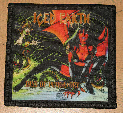 """ICED EARTH """"DAYS OF PURGATORY"""" silk screen PATCH"""