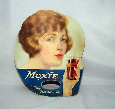 Country Store Advertising - Double Sided Fan / Sign - 1920' s Moxie Drink