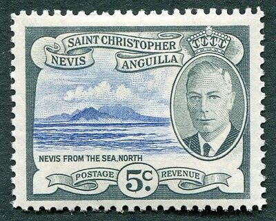 ST. CHRISTOPHER NEVIS AND ANGUILLA 1952 5c SG98 MH FG Nevis from the Sea #W14