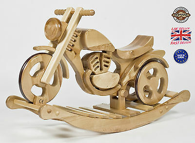 BRAND NEW ROCKING MOTORBIKE Wooden Toy rocking horse VESTA from MJmark