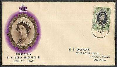 Aden Scott 47 Used First Day Cover - Jun 2, 1953  Elizabeth Ii Coronation Issue