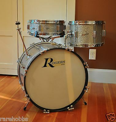 Rogers DELTA Drumset Sparkling Silver Pearl ~ COLLECTOR